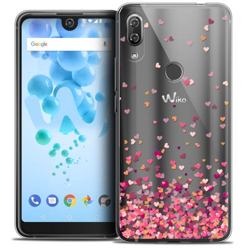 "Coque Crystal Gel Wiko View 2 PRO (6.0"") Extra Fine Sweetie - Heart Flakes"