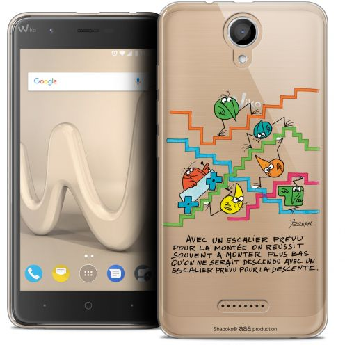"Coque Gel Wiko Harry (5"") Extra Fine Les Shadoks® - L'escalier"
