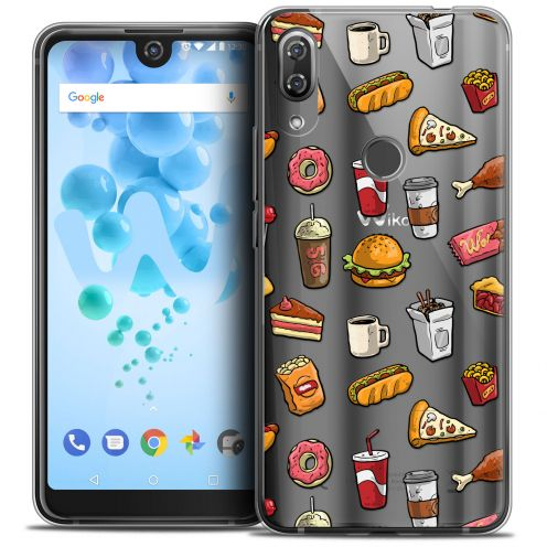 "Coque Crystal Gel Wiko View 2 PRO (6.0"") Extra Fine Foodie - Fast Food"