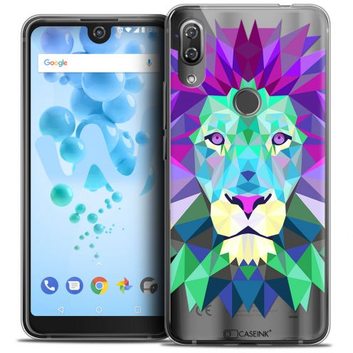 "Coque Crystal Gel Wiko View 2 PRO (6.0"") Extra Fine Polygon Animals - Lion"