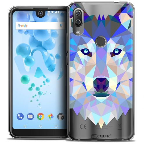 "Coque Crystal Gel Wiko View 2 PRO (6.0"") Extra Fine Polygon Animals - Loup"