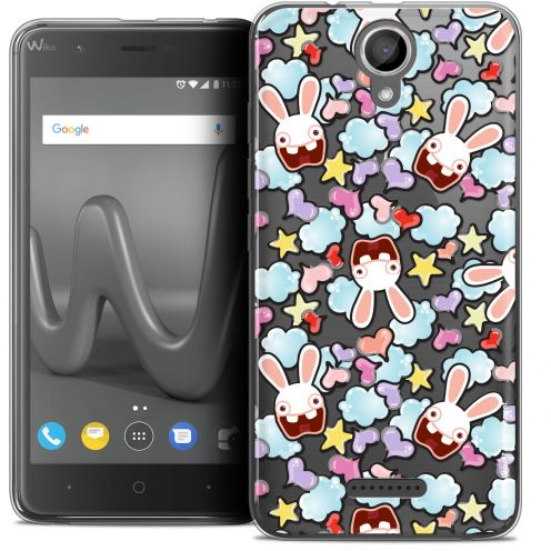 "Coque Gel Wiko Harry (5"") Extra Fine Lapins Crétins™ - Love Pattern"