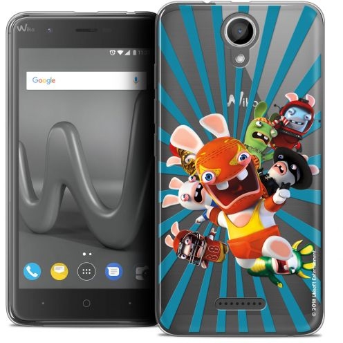 "Coque Gel Wiko Harry (5"") Extra Fine Lapins Crétins™ - Super Heros"