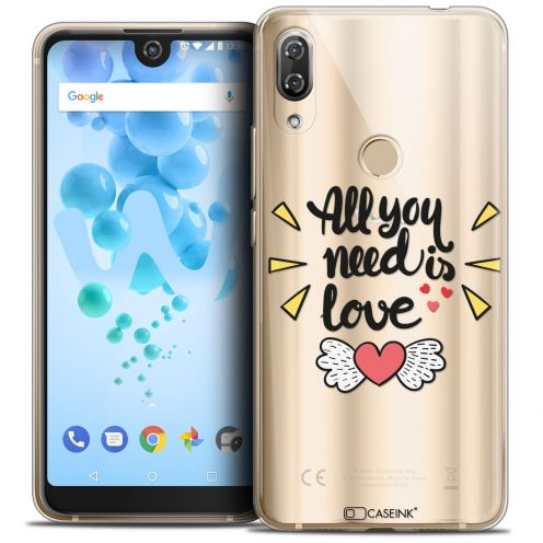 "Coque Crystal Gel Wiko View 2 PRO (6.0"") Extra Fine Love - All U Need Is"