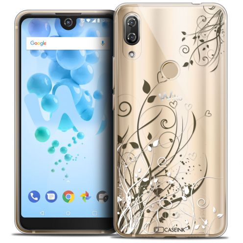 "Coque Crystal Gel Wiko View 2 PRO (6.0"") Extra Fine Love - Hearts Flowers"