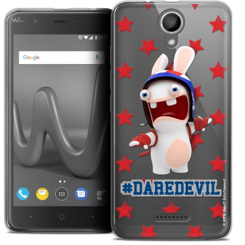 "Coque Gel Wiko Harry (5"") Extra Fine Lapins Crétins™ - Dare Devil"