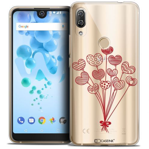 "Coque Crystal Gel Wiko View 2 PRO (6.0"") Extra Fine Love - Ballons d'amour"