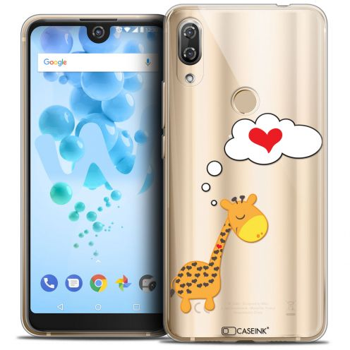 """Coque Crystal Gel Wiko View 2 PRO (6.0"""") Extra Fine Love - Girafe Amoureuse"""