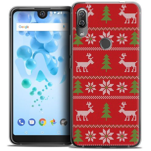 """Coque Crystal Gel Wiko View 2 PRO (6.0"""") Extra Fine Noël 2017 - Couture Rouge"""
