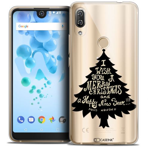 "Coque Crystal Gel Wiko View 2 PRO (6.0"") Extra Fine Noël 2017 - XOXO Tree"