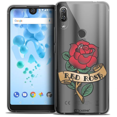 """Coque Crystal Gel Wiko View 2 PRO (6.0"""") Extra Fine Tatoo Lover - Red Rose"""