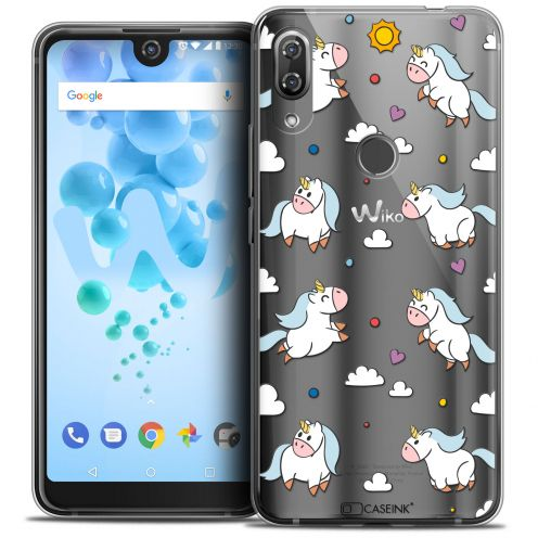 "Coque Crystal Gel Wiko View 2 PRO (6.0"") Extra Fine Fantasia - Licorne In the Sky"