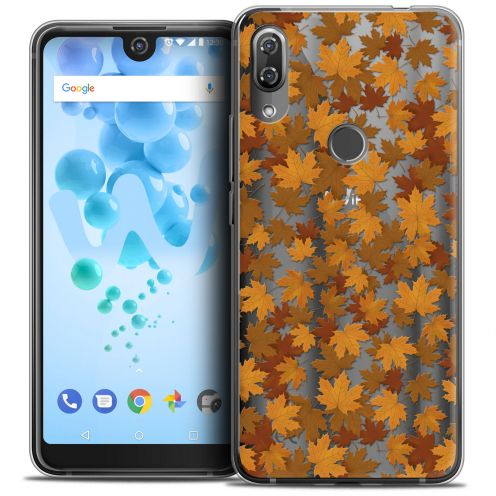 "Coque Crystal Gel Wiko View 2 PRO (6.0"") Extra Fine Autumn 16 - Feuilles"