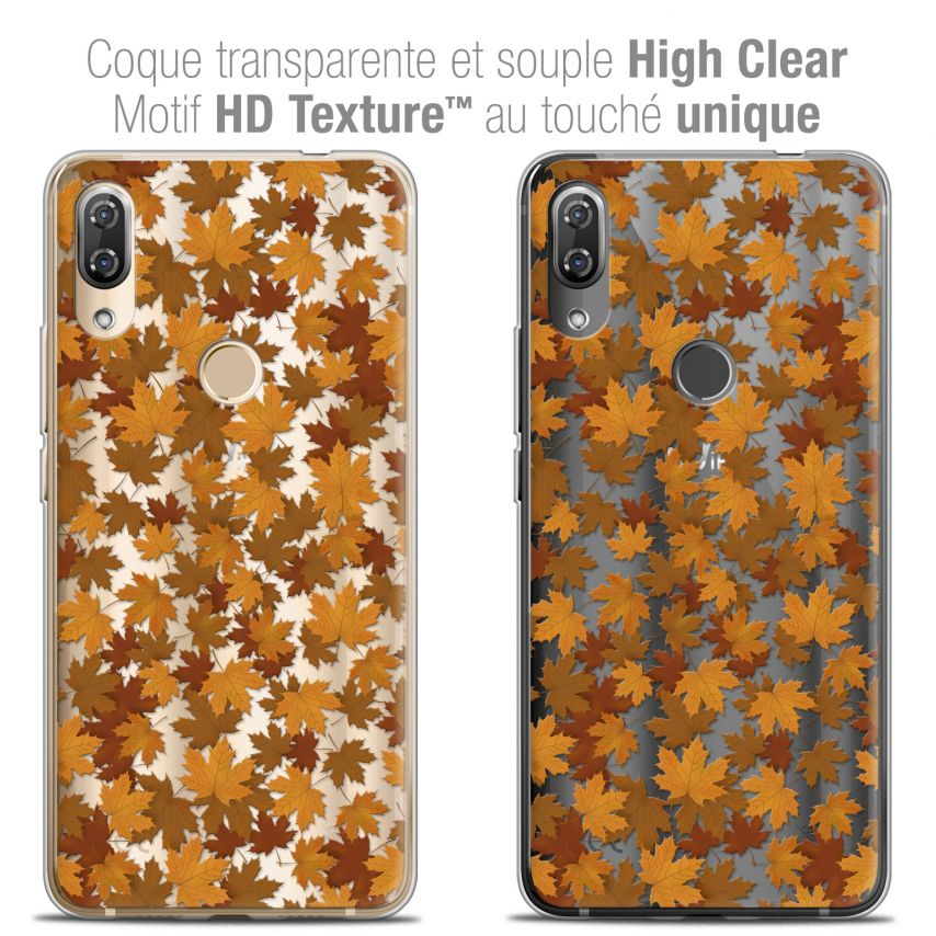 """Coque Crystal Gel Wiko View 2 PRO (6.0"""") Extra Fine Autumn 16 - Feuilles"""
