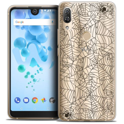 """Coque Crystal Gel Wiko View 2 PRO (6.0"""") Extra Fine Halloween - Spooky Spider"""