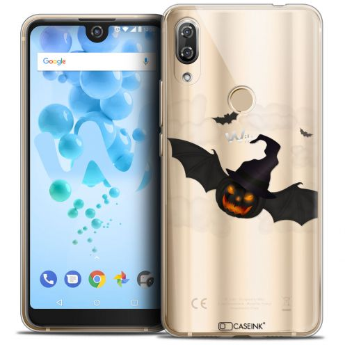 """Coque Crystal Gel Wiko View 2 PRO (6.0"""") Extra Fine Halloween - Chauve Citrouille"""