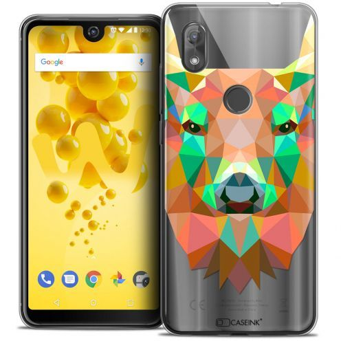 """Coque Crystal Gel Wiko View 2 (6.0"""") Extra Fine Polygon Animals - Cerf"""