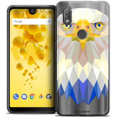 """Coque Crystal Gel Wiko View 2 (6.0"""") Extra Fine Polygon Animals - Aigle"""