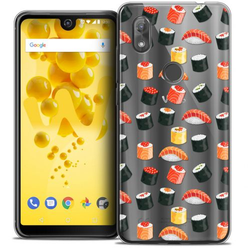 """Coque Crystal Gel Wiko View 2 (6.0"""") Extra Fine Foodie - Sushi"""