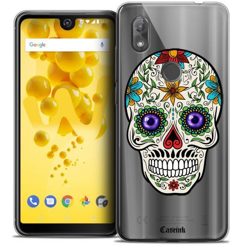 """Coque Crystal Gel Wiko View 2 (6.0"""") Extra Fine Skull - Maria's Flower"""