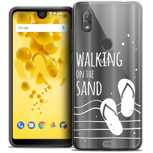 "Coque Crystal Gel Wiko View 2 (6.0"") Extra Fine Summer - Walking on the Sand"