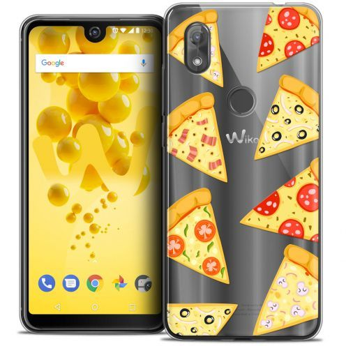 """Coque Crystal Gel Wiko View 2 (6.0"""") Extra Fine Foodie - Pizza"""