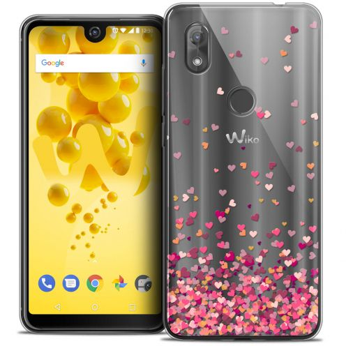 """Coque Crystal Gel Wiko View 2 (6.0"""") Extra Fine Sweetie - Heart Flakes"""