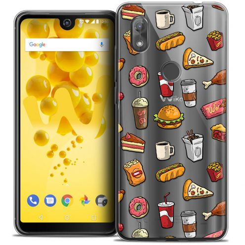 """Coque Crystal Gel Wiko View 2 (6.0"""") Extra Fine Foodie - Fast Food"""