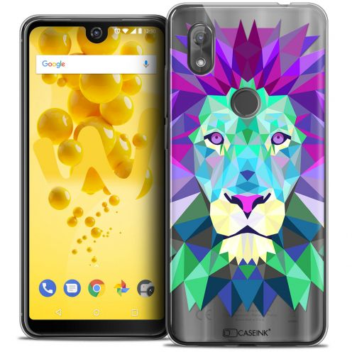 """Coque Crystal Gel Wiko View 2 (6.0"""") Extra Fine Polygon Animals - Lion"""