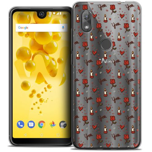"""Coque Crystal Gel Wiko View 2 (6.0"""") Extra Fine Love - Bougies et Roses"""