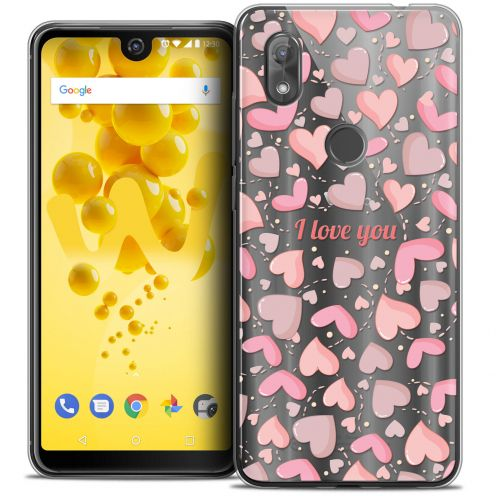 """Coque Crystal Gel Wiko View 2 (6.0"""") Extra Fine Love - I Love You"""
