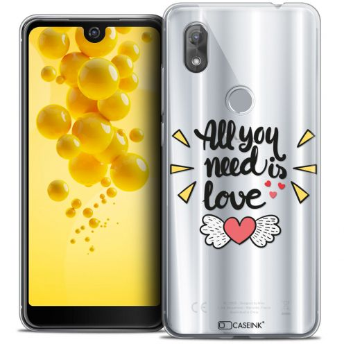 """Coque Crystal Gel Wiko View 2 (6.0"""") Extra Fine Love - All U Need Is"""