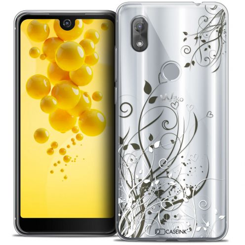 """Coque Crystal Gel Wiko View 2 (6.0"""") Extra Fine Love - Hearts Flowers"""