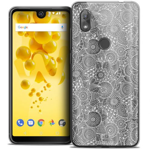 "Coque Crystal Gel Wiko View 2 (6.0"") Extra Fine Dentelle Florale - Blanc"