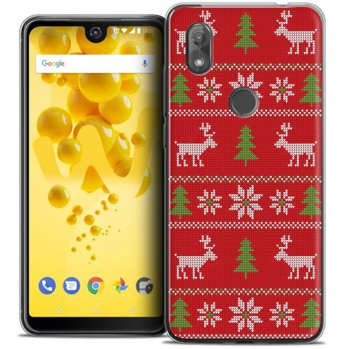 """Coque Crystal Gel Wiko View 2 (6.0"""") Extra Fine Noël 2017 - Couture Rouge"""