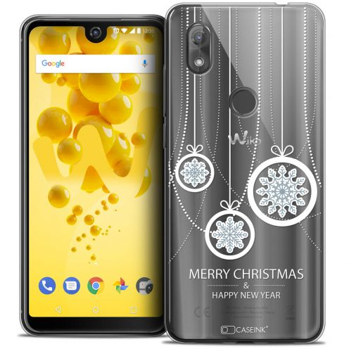 """Coque Crystal Gel Wiko View 2 (6.0"""") Extra Fine Noël 2017 - Christmas Balls"""