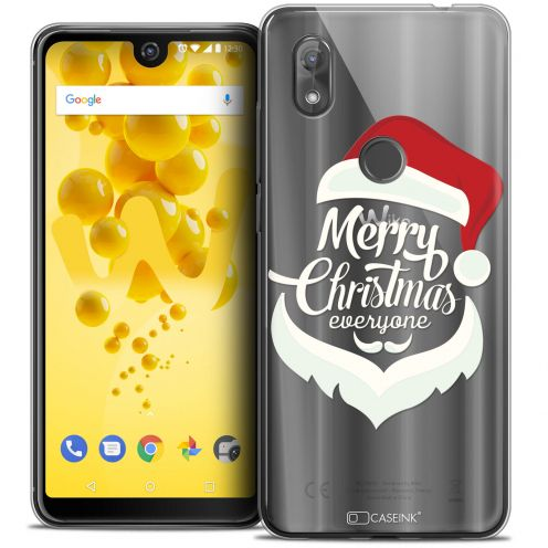 """Coque Crystal Gel Wiko View 2 (6.0"""") Extra Fine Noël 2017 - Merry Everyone"""