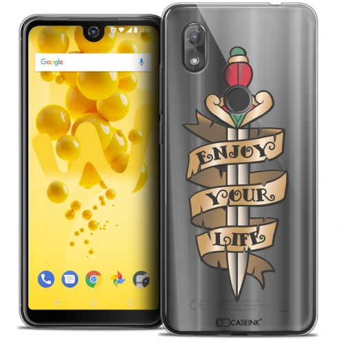 """Coque Crystal Gel Wiko View 2 (6.0"""") Extra Fine Tatoo Lover - Enjoy Life"""