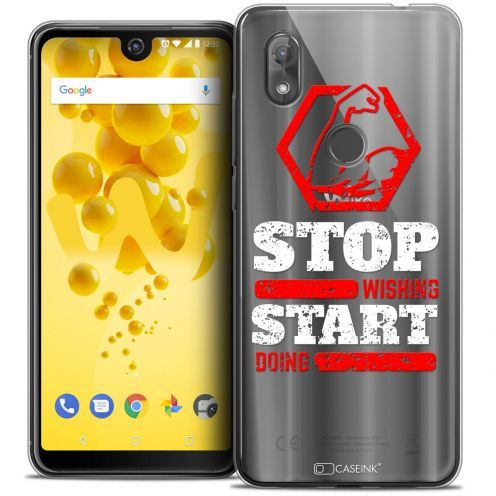 """Coque Crystal Gel Wiko View 2 (6.0"""") Extra Fine Quote - Start Doing"""