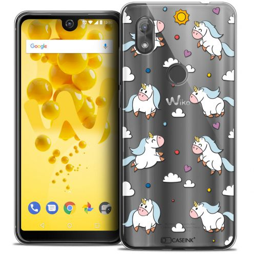 "Coque Crystal Gel Wiko View 2 (6.0"") Extra Fine Fantasia - Licorne In the Sky"