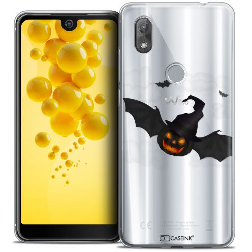 """Coque Crystal Gel Wiko View 2 (6.0"""") Extra Fine Halloween - Chauve Citrouille"""