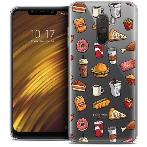 "Coque Crystal Gel Xiaomi Pocophone F1 (6.18"") Extra Fine Foodie - Fast Food"