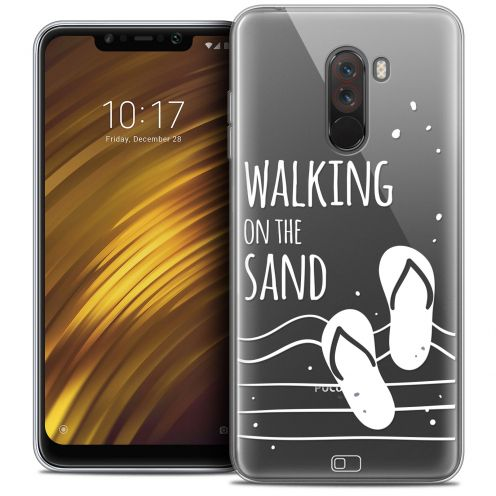 "Coque Crystal Gel Xiaomi Pocophone F1 (6.18"") Extra Fine Summer - Walking on the Sand"