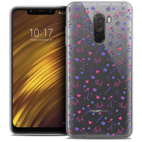"Coque Crystal Gel Xiaomi Pocophone F1 (6.18"") Extra Fine Love - Bicycle"