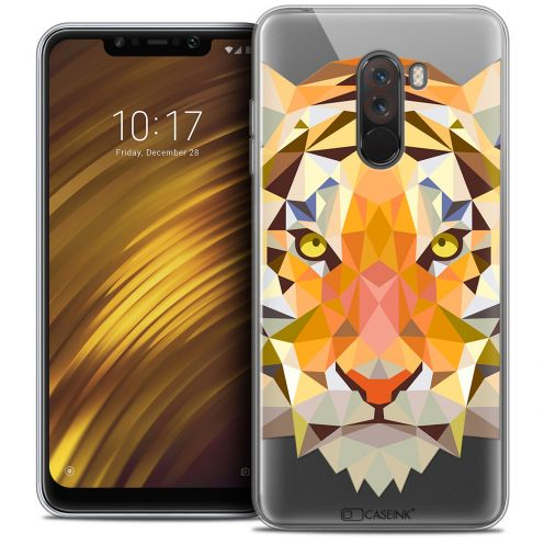 """Coque Crystal Gel Xiaomi Pocophone F1 (6.18"""") Extra Fine Polygon Animals - Tigre"""