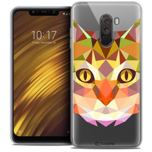 "Coque Crystal Gel Xiaomi Pocophone F1 (6.18"") Extra Fine Polygon Animals - Chat"