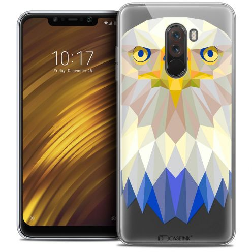 "Coque Crystal Gel Xiaomi Pocophone F1 (6.18"") Extra Fine Polygon Animals - Aigle"