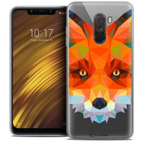 "Coque Crystal Gel Xiaomi Pocophone F1 (6.18"") Extra Fine Polygon Animals - Renard"
