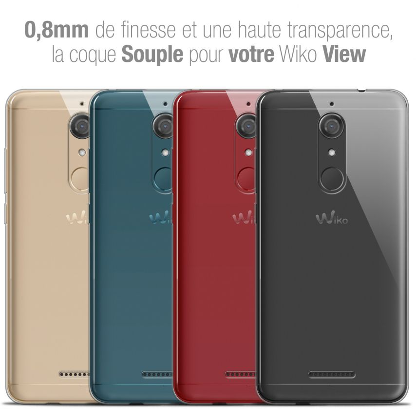 "Coque Wiko View (5.7"") Extra Fine Souple Crystal Clear"