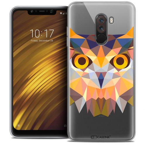 "Coque Crystal Gel Xiaomi Pocophone F1 (6.18"") Extra Fine Polygon Animals - Hibou"